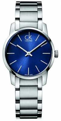 Calvin Klein Ladies City Silver Steel Watch K2G2314N
