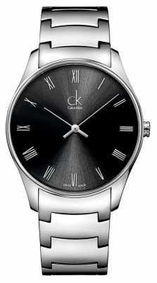 Calvin Klein Mens Classic Black Silver Watch K4D2114Y
