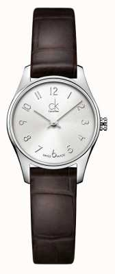 Calvin Klein Ladies Classic Silver Brown Watch K4D231G6