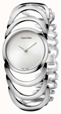 Calvin Klein Ladies Body Silver Watch K4G23126