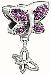Chamilia Come Fly With Me Purple Swarovski Butterfly Charm 2025-1105