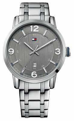Tommy Hilfiger Mens Grey and Silver George Watch 1710345