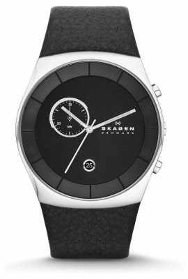 Skagen Mens Klassik Black Chronograph Watch SKW6070
