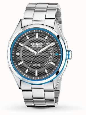 Citizen Drive Mens Eco Drive HTM Stainless Steel Bracelet Date Watch AW1141-59E