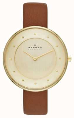 Skagen Ditte Leather Strap Watch SKW2138