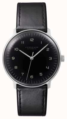 Junghans Mens Max Bill Automatic Black Leather 027/3400.04