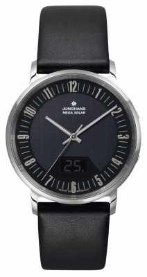 Junghans Mens Milano Mega Solar Black Stainless Steel Watch 056/4221.00