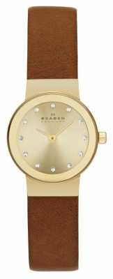 Skagen Freja Ladies Leather Strap Watch SKW2175
