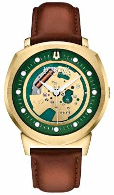Bulova Men's Accutron II Gold Tone Skeleton Watch 97A110