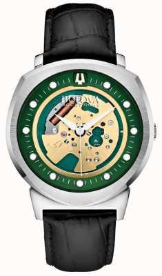 Bulova Mens Accutron II Silver Tone Skeleton Watch 96A155