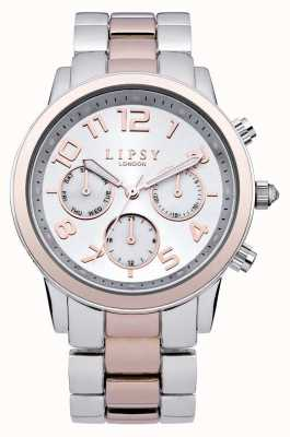 Lipsy Ladies Silver and Gold Sports Watch LP130