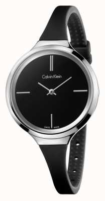 Calvin Klein Ladies Lively Black Silicone Strap K4U231B1