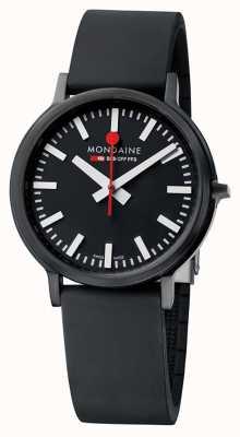 Mondaine Stop2Go Black Silicone Strap Watch A512.30358.64SPB