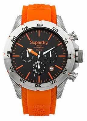 Superdry Mens Adventurer Orange Silicone Strap SYG141O
