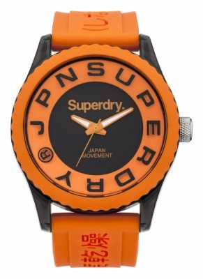 Superdry Mens Tokyo Orange Silicone Strap Watch SYG145O