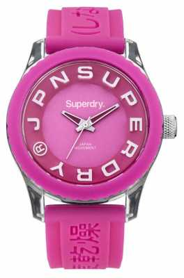 Superdry Tokyo Pink Silicone Strap Watch SYL146P