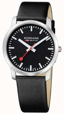 Mondaine Men's Simply Elegant Black Leather Strap A638.30350.14SBB