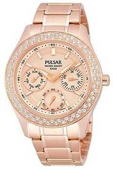 Pulsar Ladies' Multi Function Steel Dress Watch PP6120X1
