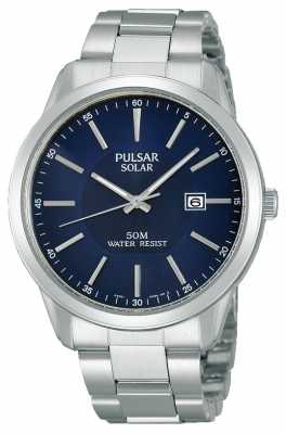 Pulsar Mens Solar Powered Watch PX3021X1