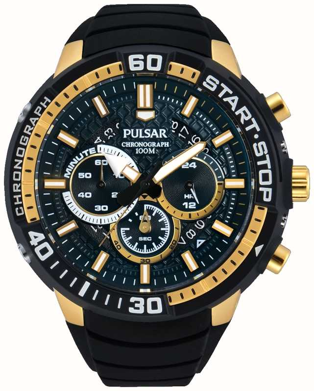 Pulsar Mens X Black And Gold Pt3550x1 First Class Watches