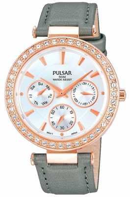 Pulsar Ladies' Stone Set Multi Eye Rose Gold Watch PP6166X1