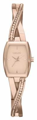 DKNY Ladies Crosswalk Rose Gold Stone Set Watch NY2238