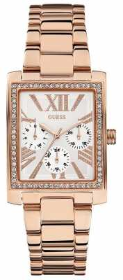 Guess Haven Square Rose Gold Stone Set W0446L3