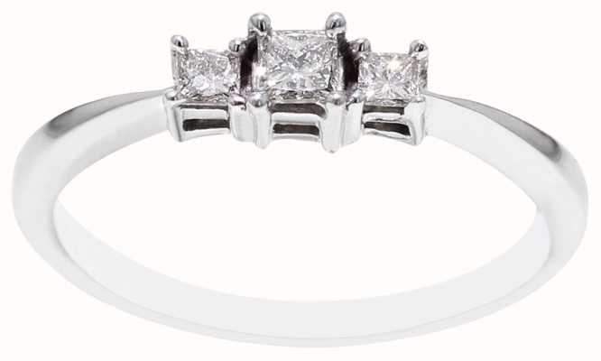 9k White Gold 3 Diamond Ring FCD00396