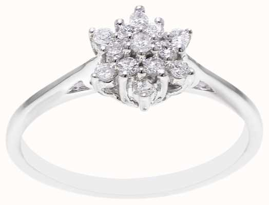 9k White Gold Diamond Ring FCD00397