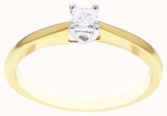 18k Yellow Gold 0.20ct Diamond Ring FCD00400