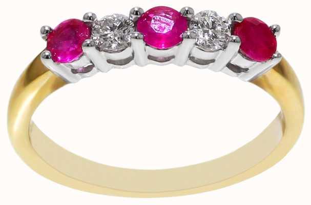 Ruby & Diamond Ring DRR569 FCD00412