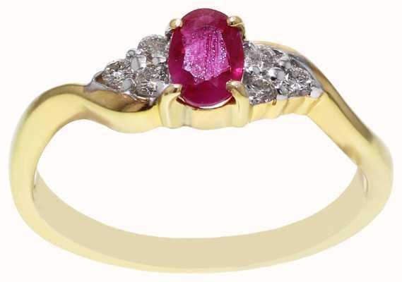 Ruby & Diamond Ring DRR618 FCD00413