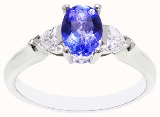 Diamond & Tanzanite Ring 18ct FCD00422