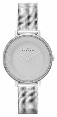 Skagen Ladies Ditte Silver Mesh Strap Watch SKW2211