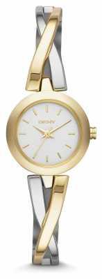 DKNY Ladies Crosswalk Gold Silver Watch NY2171