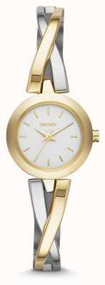 DKNY Ladies Crosswalk Gold Silver Watch NY2171