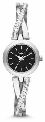 DKNY Ladies Crosswalk Silver Stone Set Watch NY2174