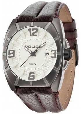 Police Mens Chopper Brown Leather Strap Watch 14193JSU/07