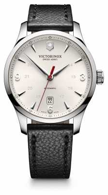 Victorinox Swiss Army Mens Alliance Auto Black Leather Watch 241666