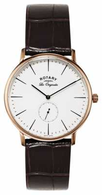 Rotary Mens Les Originales, Gold Plate, Leather GS90053/02