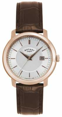 Rotary Rotary Mens Silver Brown Watch GS02883/06