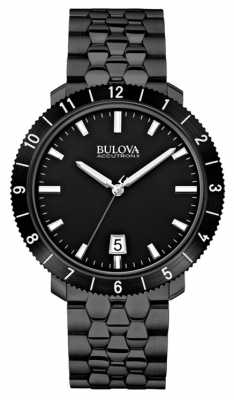 Bulova Mens Accutron II Black IP Steel Watch 98B218