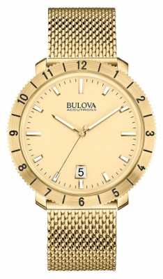 Bulova Mens Accutron II Gold Plate Watch 97B129