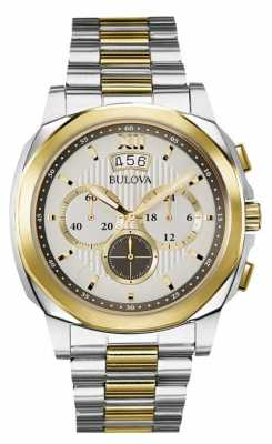 Bulova Mens Classic Two Tone Chronograph 98B232