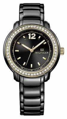 Tommy Hilfiger Ladies Callie, Black, Gold Accent, Crystal 1781495