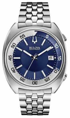 Bulova Mens Accutron II Stainless Steel Blue Dial Watch 96B209