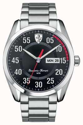 Scuderia Ferrari Mens D50, Steel, Black Dial Watch 0830180