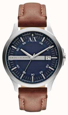 Armani Exchange Men's Date Leather Strap Watch AX2133