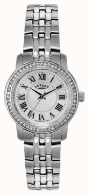 Rotary Womens Stainless-Steel, Crystal-Set Watch LB02595/41