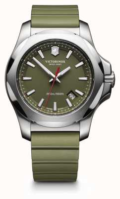 Victorinox Swiss Army I.N.O.X. Green Rubber Strap Mens 241683.1